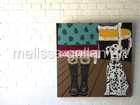 Gumboots - ORIGINAL PAINTING - SOLD!