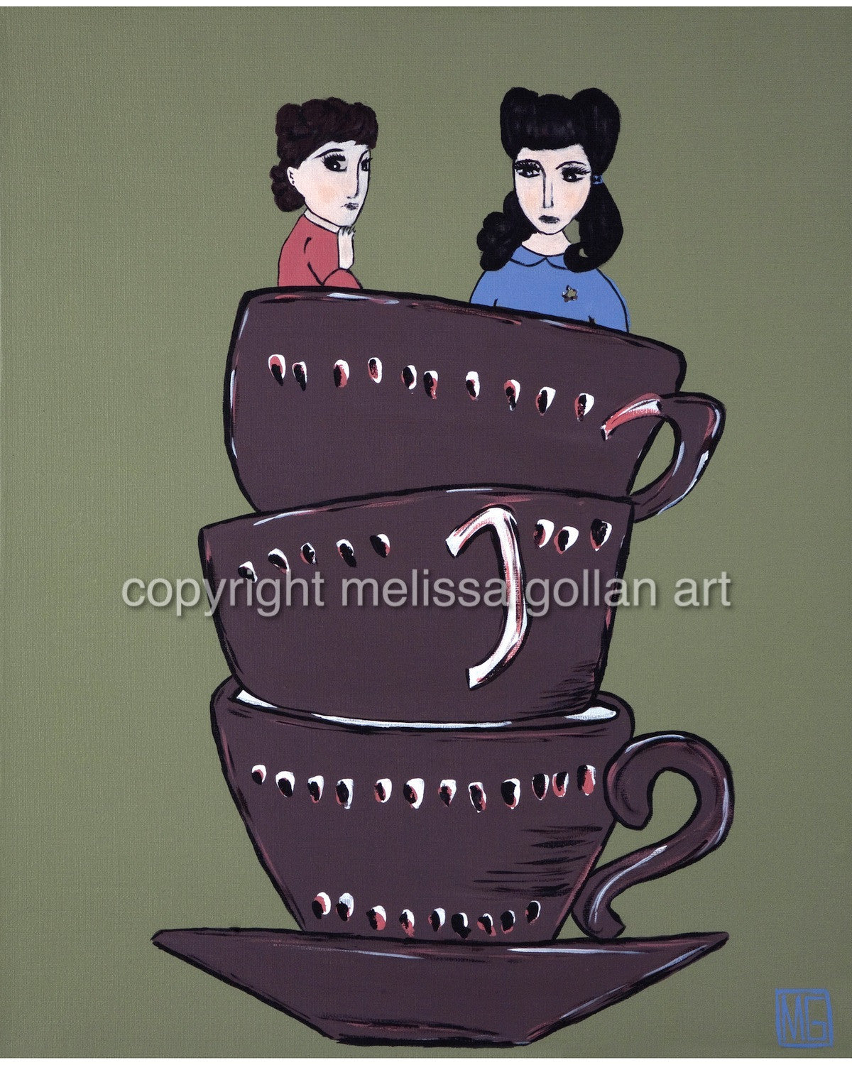 High Tea For Two - LIMITED EDITION Giclée Prints on Canvas