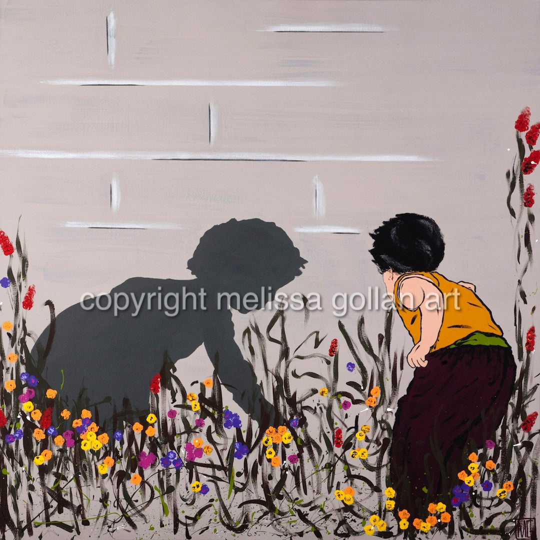 In The Garden - ORIGINAL PAINTING - SOLD!