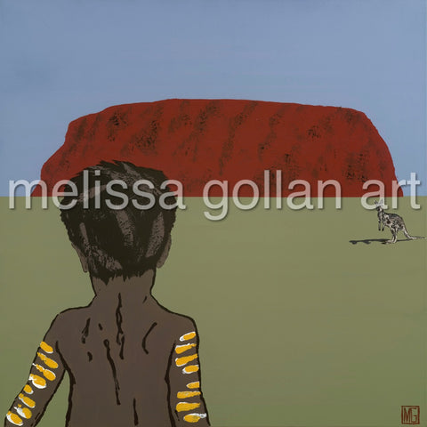 Child Near Uluru -LIMITED EDITION Giclée Prints on Canvas