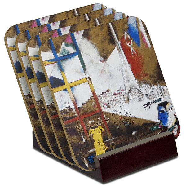 'A Brussels View' - TIMBER Coaster Set (4)