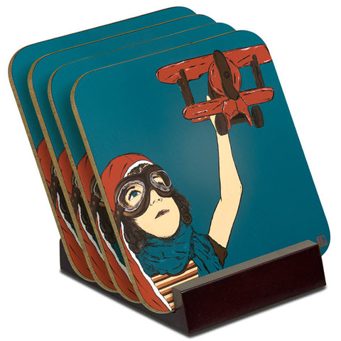 'Dream to Fly' - TIMBER Coaster Set (4)