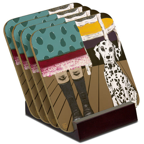 'Gumboots' - TIMBER Coaster Set (4)