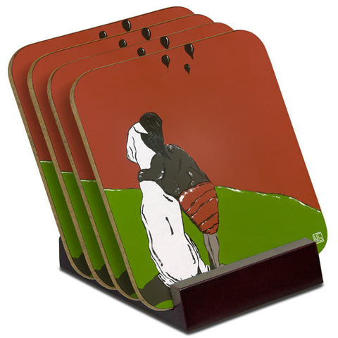 'Look To The Sky' - TIMBER Coaster Set (4)