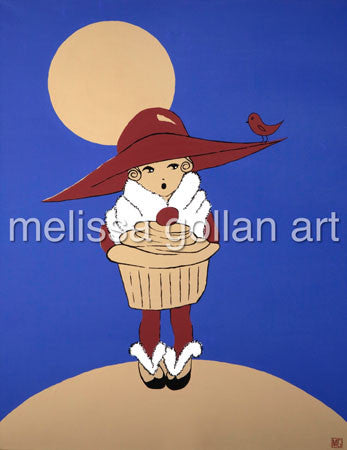 Moonlight Cupcake - LIMITED EDITION Giclée Prints on Canvas
