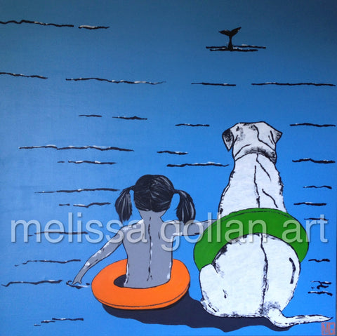 Whale Watching - Giclée PRINT on Fine Art Paper (Hand Signed)