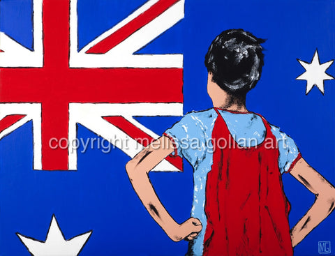 Young Australian Hero - ORIGINAL PAINTING - SOLD!
