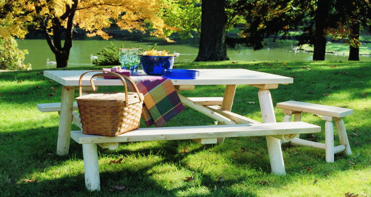 Picnic Table with Basket