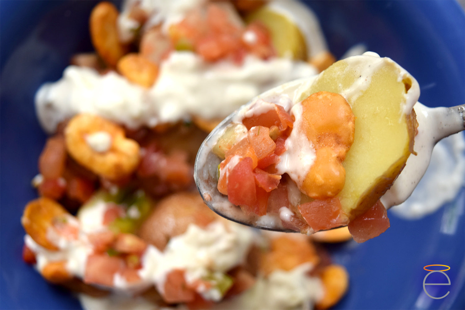 Tzatziki Potatoes on Spoon