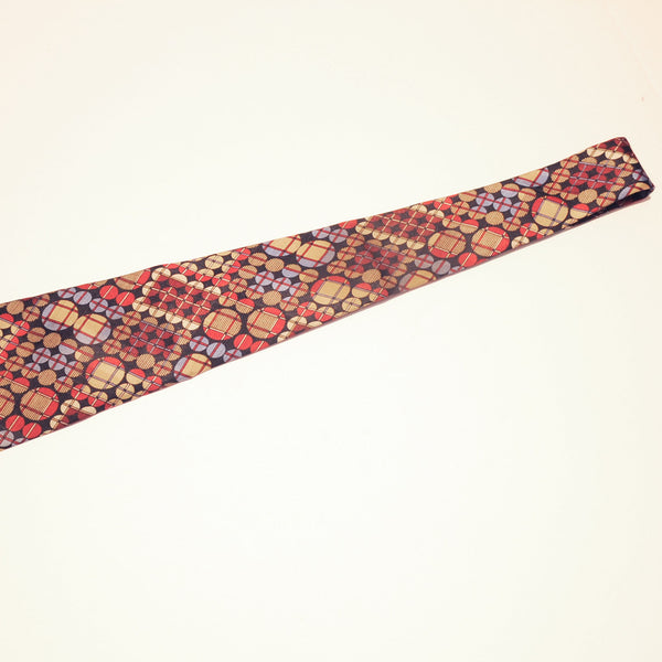CARTIER SILK CIRCLE PATTERN NECKTIE