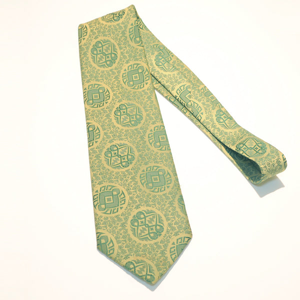 VINTAGE 1970's CARTIER TIE GREEN DISCO