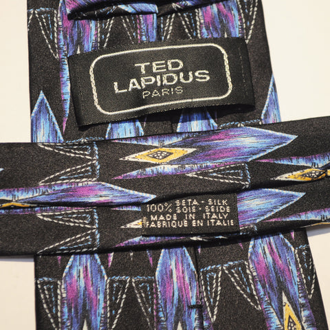 TED LAPIDUS PURPLE SILK TIE 100% SILK MADE IN ITALY