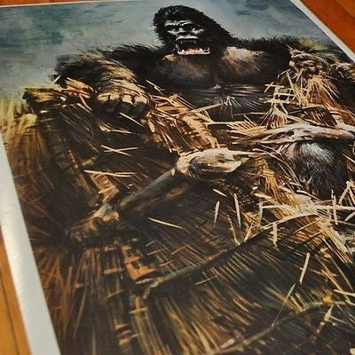 VINTAGE KING KONG POSTER IN PACKAGING 1976 PRINTED USA DARGIS RARE!!