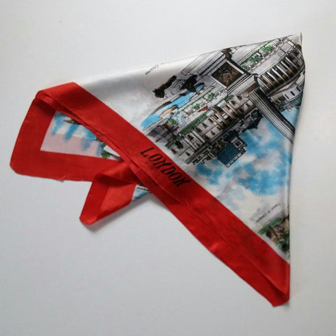 London vintage souvenir scarf