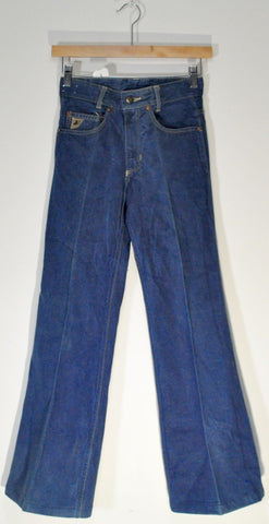 FADED INDIGO 70s HIGH WAIST DENIM BELL BOTTOM JEANS BY LOIS