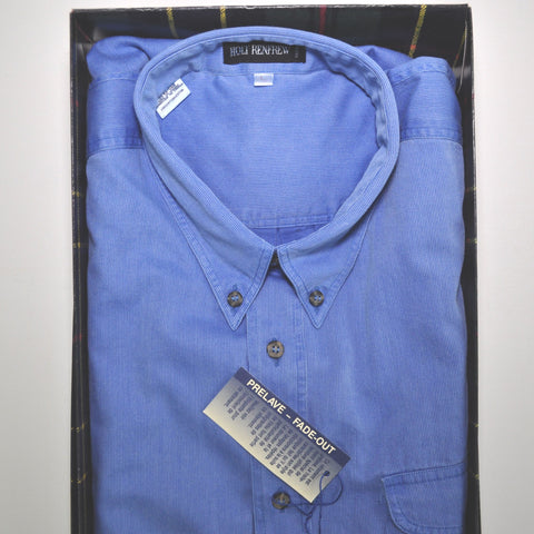 HOLT RENFREW SHIRT 90s BLUE FADE LONG SLEEVE BUTTON UP LARGE