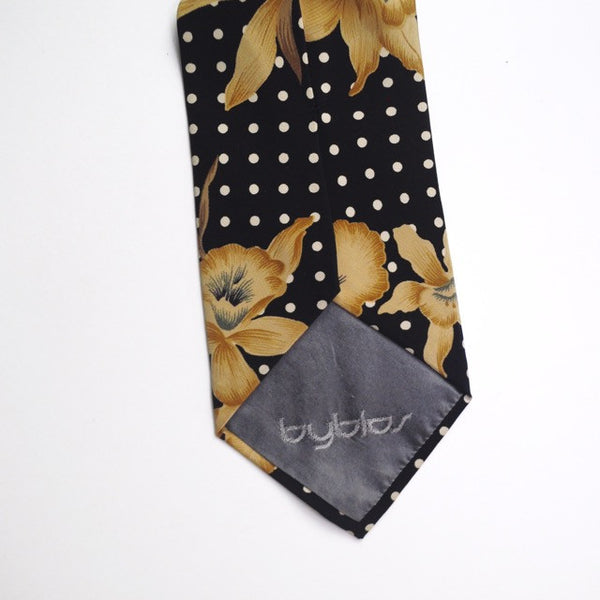 Byblos Navy floral with polka dot tie - LNF Shop -  Byblos, Tie, Montreal, Mile End
