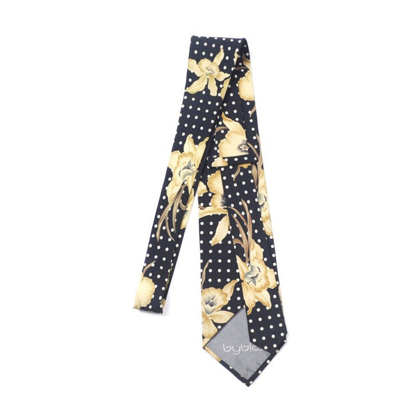 Byblos Navy floral with polka dot tie