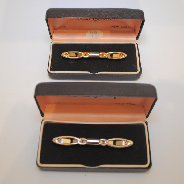1950's PIERRE CARDIN COLLAR BARS GOLD + SILVER TIE CLIPS - LNF Shop -  Pierre Cardin, Men's Jewelery, Montreal, Mile End
