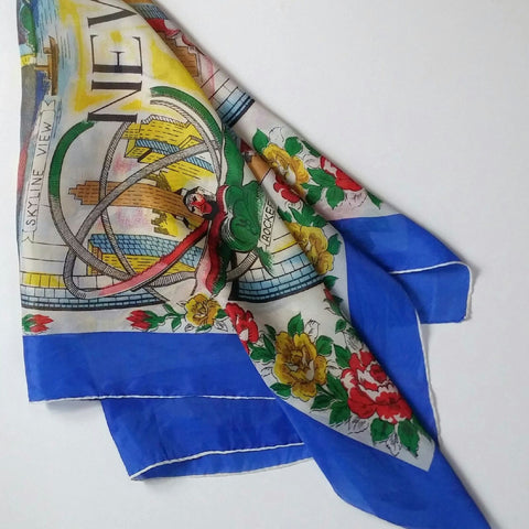 Large New York City vintage souvenir scarf