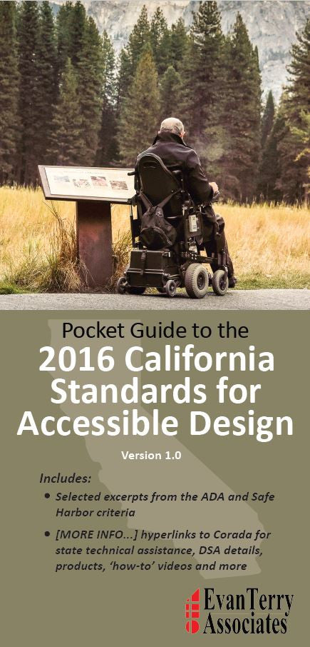 NEW! Pocket Guide to the 2016 California Standards for Accessible Design - PDF Download