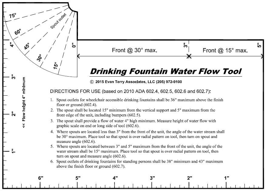 Drinking Fountain Water Flow Tool