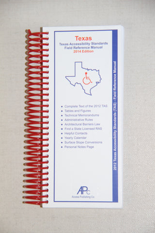 Texas Accessibility Standards Field Reference Manual 2017 Edition