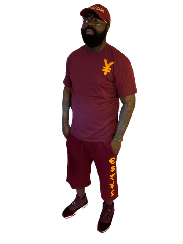 logo burgundy shirts
