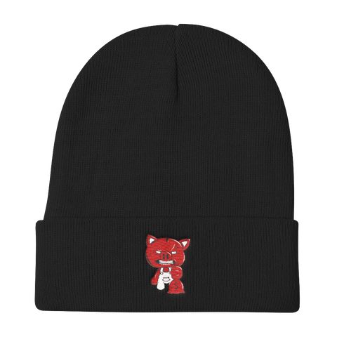 SOLID BLACK OG PIGGY BEANIE