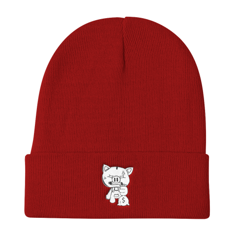 SOLID RED OG PIGGY BEANIE