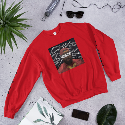 PIGGYBANK RED FACE SWEATER