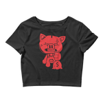SOLID OG PIGGY CROP TOP BLACK
