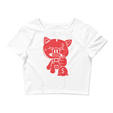 SOLID OG PIGGY CROP TOP WHITE