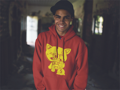 SOLID OG RED PIGGY HOODY
