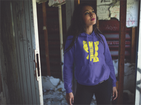 SOLID OG PIGGY  HEATHER PURPLE  HOODY