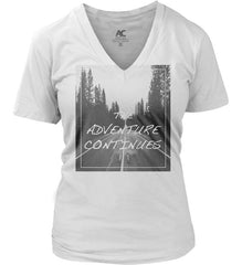 ADVENTURE CONTINUES T-SHIRT