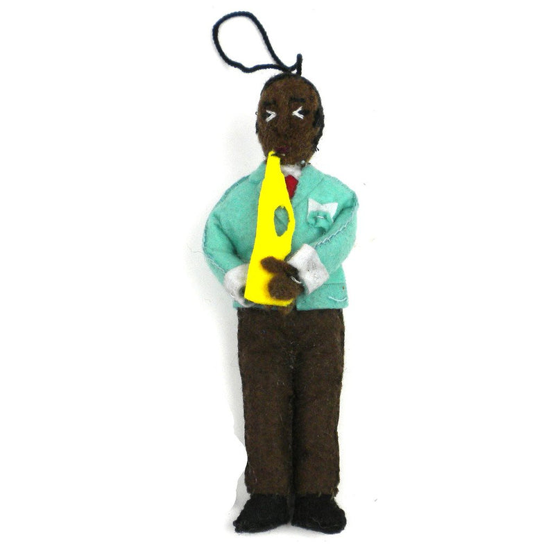 Louis Armstrong Felt Ornament - Silk Road Bazaar (O)