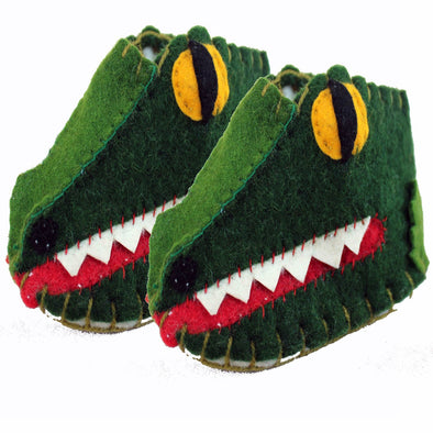 Alligator Baby Booties
