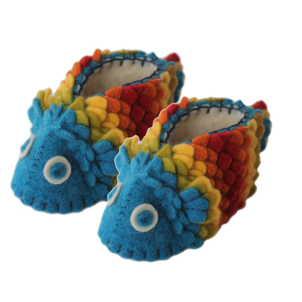 Rainbow Fish Baby Booties