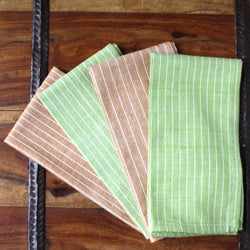 Green Caramel 16 inch Cotton Napkin Set of 4 - Sustainable Threads (L)