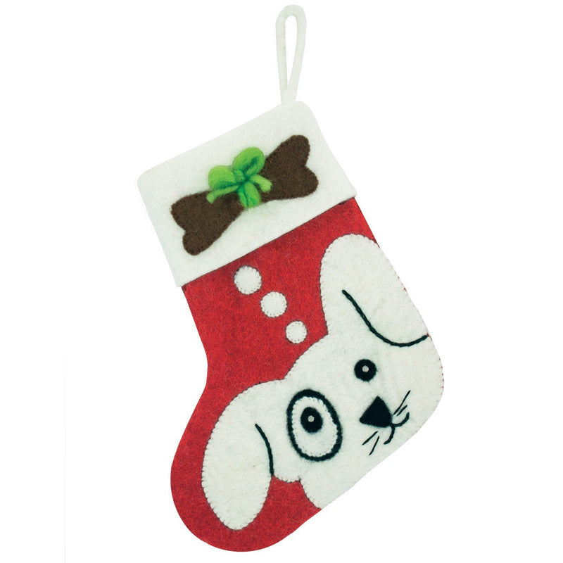 Puppy Holiday Stocking - Wild Woolies (H)