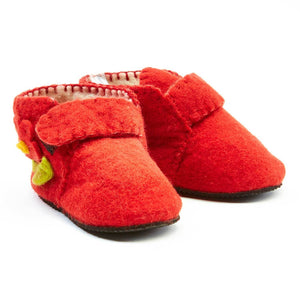 Red Toddler Booties