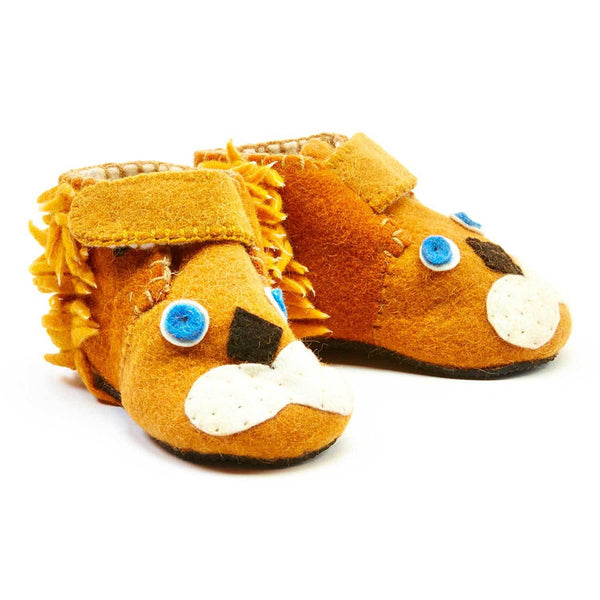 Lion Toddler Booties