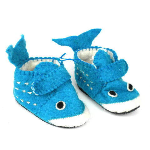 Whale Toddler Booties