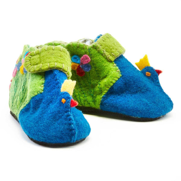 Peacock Toddler Booties