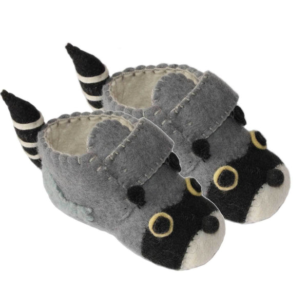 Raccoon Toddler Booties