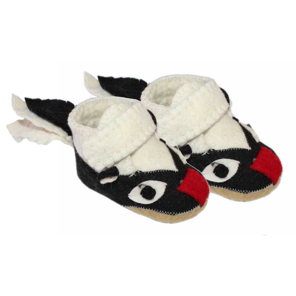 Skunk Toddler Booties