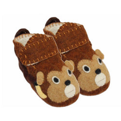 Monkey Toddler Booties