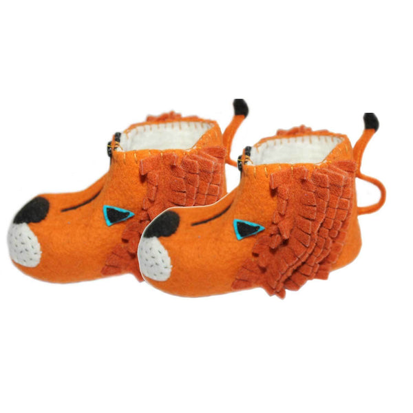Lion Kid Booties Age 4-5
