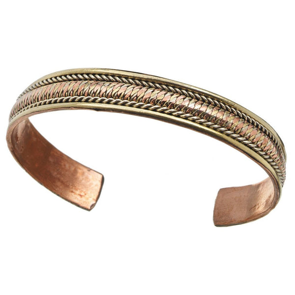 Copper and Brass Cuff Bracelet: Healing Path